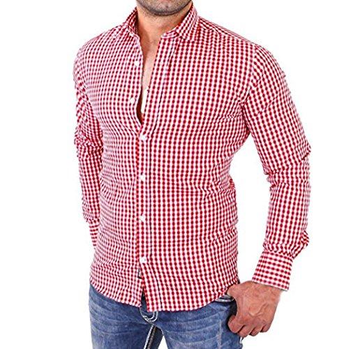 29d2cb628881 Hemd Herren Xinan Langarm Slim Fit Business Casual Shirt L, Rot ...